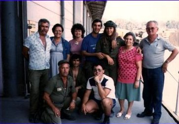 The precious people I worked with in a warehouse on that IDF base in Yafo