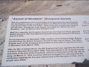 Ascent of Akrabbim or Scorpion Pass