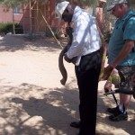 "Having prayed the Word into the shofar, Chris is ""planting"" it with the blast of his shofar."