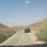 Driving up to the Scorpion Pass. During the Nabatean period, the route became a part of the Spice Route