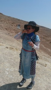 Phyllis had only a small shofar but that did not diminish the power of G-d's Word