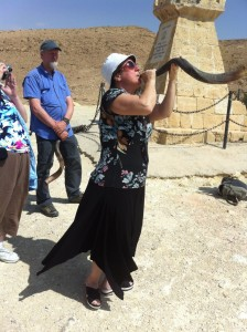 Ruhama blew the shofar for the first time, not quitting until she sent forth G-d's promise with all her might