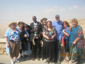 "The ""Shofar team, from left to right: Sally Nagy, Sylvie Brocqueville, Phyllis Nataf, Chris Simiyu-Bera, Elinor Rasco,  Ruhama Heeger-Deaton, Alan Vanderkolk, Denise Corcoran, Eireen."