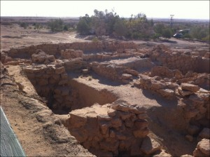 Excavation site with lower cabins; all have air condition, bathroom, beds with fresh lines