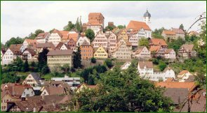 Altensteig in the Black Forest in Germany