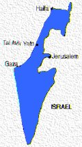 "Israel, with her center of Judea & Samaria cut out by international pressure and called ""Westbank"" = west of the river Jordan"