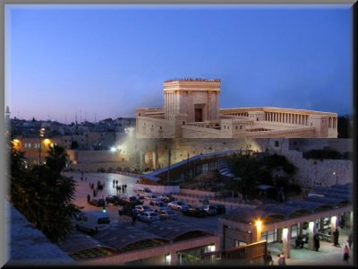 What it might look like: instead of the Dome of the Rock and the Al-Aqsa Mosque the Third Temple of the Holy One of Israel to crown the Temple Mount again.