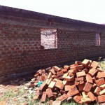 A heap of bricks Peninah bought just before she died; no one to build