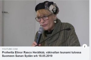 Finland - Elinor speaking at Sanan Sydan